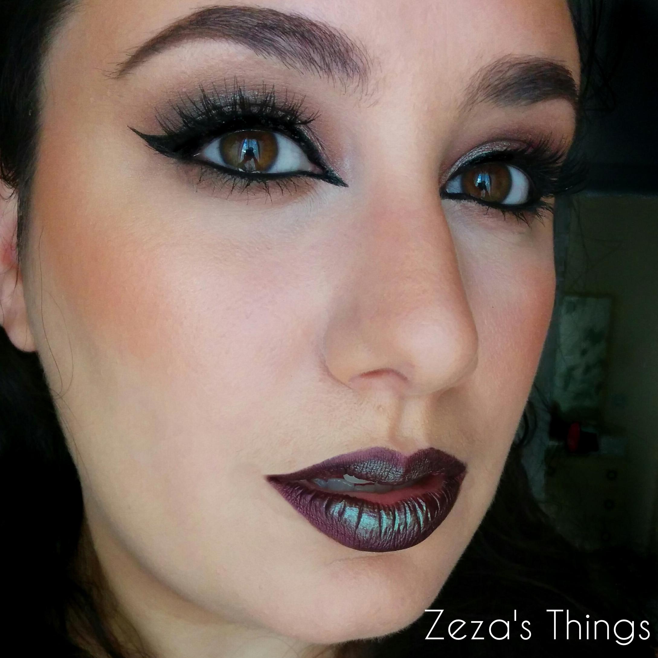 Wearable Halloween Look Using Makeup Geeku2019s Insomnia Pigment | Zezau0026#39;s Things